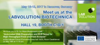 Meet us at the LABVOLUTION/BIOTECHNICA