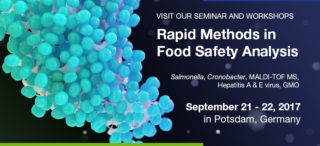 "Now open: Registration for Seminar and Workshops ""Rapid Methods in Food Safety Analysis"" 2017"