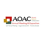 AOAC 132st Annual Meeting and Exposition 2018