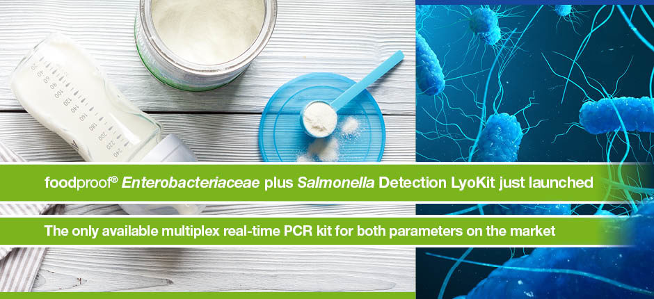 Unique kit for the simultaneous real-time PCR detection of Salmonella and Enterobacteriaceae