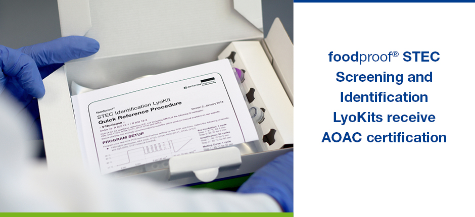 foodproof STEC STEC Screening and Identification LyoKits Receive AOAC Certification