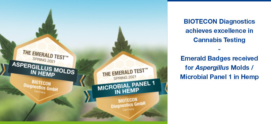 BIOTECON Diagnostics achieves excellence in Cannabis Testing